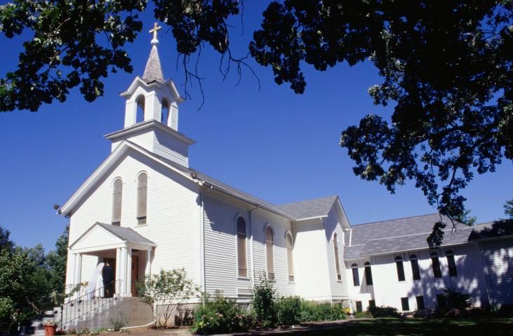 Rustic, old-fashioned church